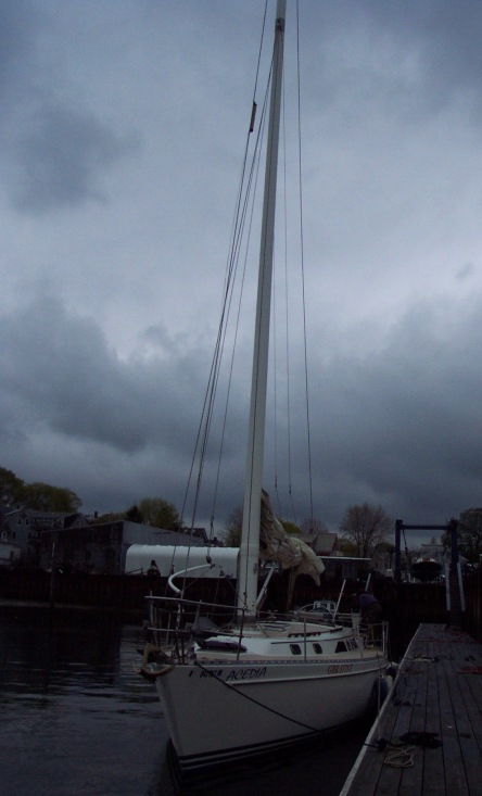 Salem Harbor- getting ready for her first sail